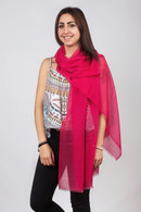 Light Cashmere Scarf Rasperry