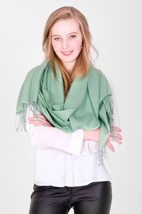 You will love every minute you spend wrapped up in this luxurious Pashmina as it falls loosely. We love this pastel green color. What about you?
