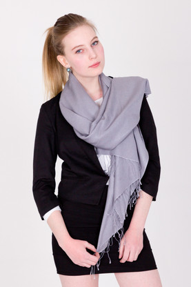 Wrap yourself in luxury with this grey Pashmina.