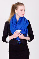 Wrap yourself in luxury with this blue Pashmina.