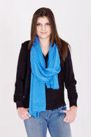 Fine Knit Cashmere Shawl Imperial Blue