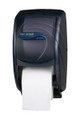 San Jamar Oceans Duett Toilet Tissue Dispenser (Black)