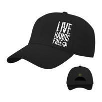 The18's Live Hands Free Hat in Black.