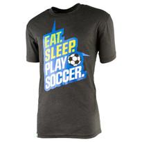 Men's Eat, Sleep, Play Soccer T-Shirt (front)