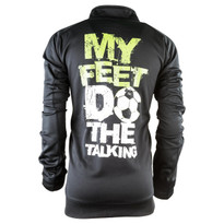 My Feet Do The Talking Men's Performance Zip-Up - Back