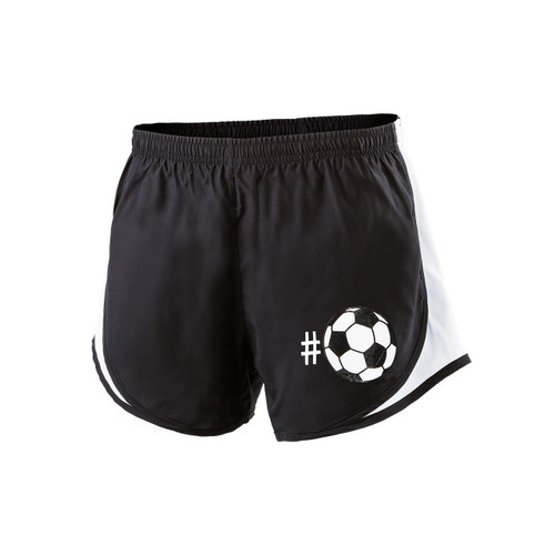 Women's Hashtag Soccer Shorts (Front)