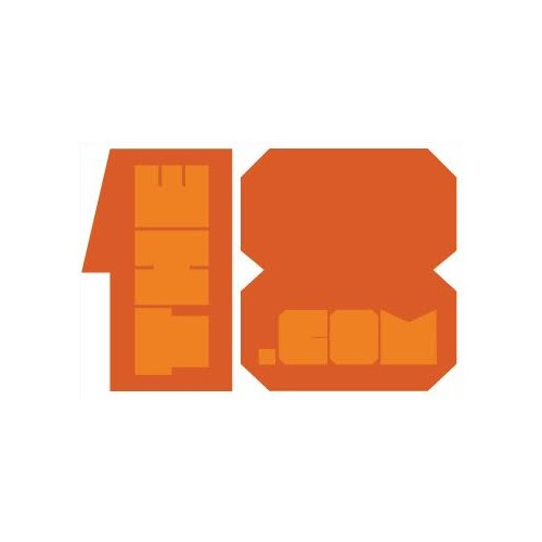 "The18.com ""Block"" Soccer Sticker - Orange"