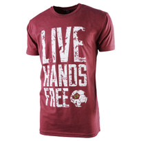 The18's Ì´Ì_ÌÎ̝ÌÎåLive Hands FreeÌ´Ì_ÌÎÌÌ´å T-Shirt in Red.
