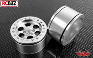Raceline Revolver 1.55 Beadlock Wheels RC4WD Z-W0199 Scale hubs included SILVER