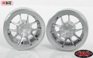 "RC4WD Rotiform SNA 1.9"" Beadlock Scale Wheels SILVER Z-W0254 inc hubs RC TOY"