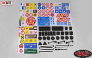 RC4WD Scale Signs Set inc stands & Poles 10th US & EU Road Sign Gates Z-X0035 RC