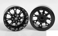 "RC4WD Fuel Offroad Krank 1.7"" Beadlock Wheels Z-W0256 Black Off-Road Neg offset"