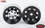 Stamped Steel 1.55 Stock Black Beadlock Scaler Wheel RC4WD HEX Mounting (4)