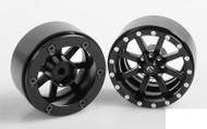 "RC4WD Fuel Offroad Maverick 1.7"" Beadlock Wheels Z-W0209 BLACK 8 Spoke RC"