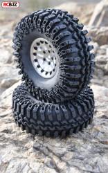 """Interco IROK 1.9"""" Tyres (2) RC4WD with Foams Z-T0054 Wide footprint SOFT TRX4"""