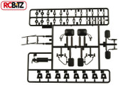 Axial Exterior Detail BLACK Scale 3 sets Mirrors Wipers AX80038 with fittings