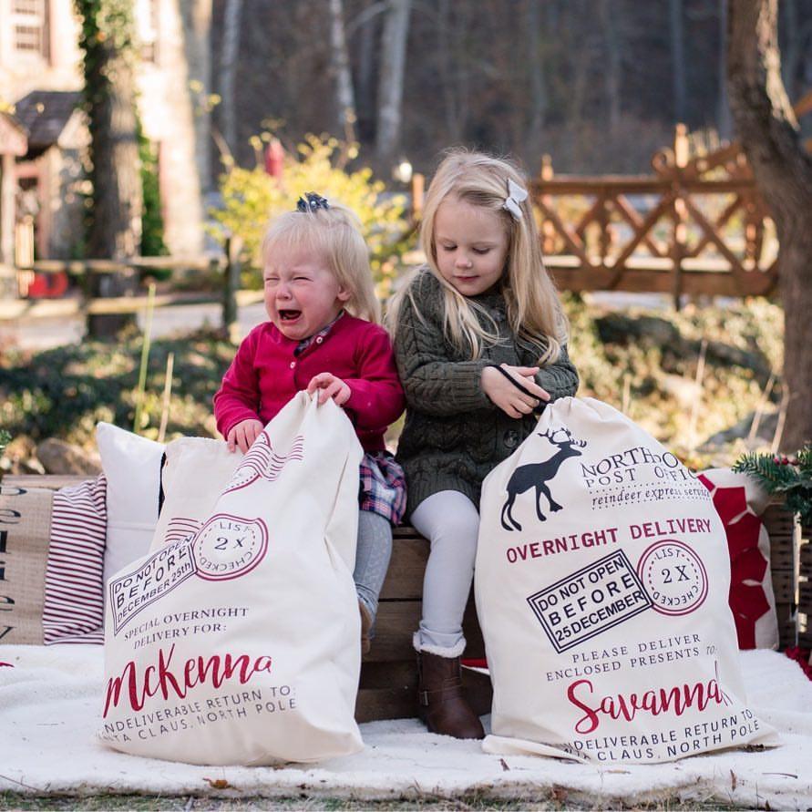 Personalized Santa\'s Bag - Christmas Gift Bag North Pole Express