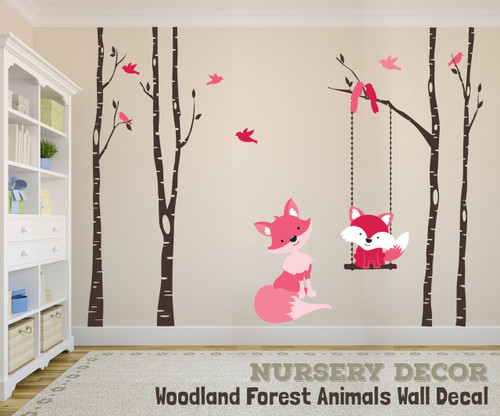 ... Wall Decal Forest Woodland Girls. Image 1 : forest animals nursery wall decals - www.pureclipart.com