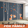 Fox Family in the Forest Woodland Nursery Decor  www.AmeriDecals.com