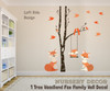 Family Fox Wall Decal Woodland Nursery www.AmeriDecals.com