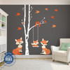 LEFT SIDE Family Orange Fox Wall Decals Nursery www.AmeriDecals.com