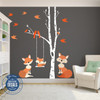 RIGHT SIDE Family Orange Fox Wall Decals Nursery www.AmeriDecals.com