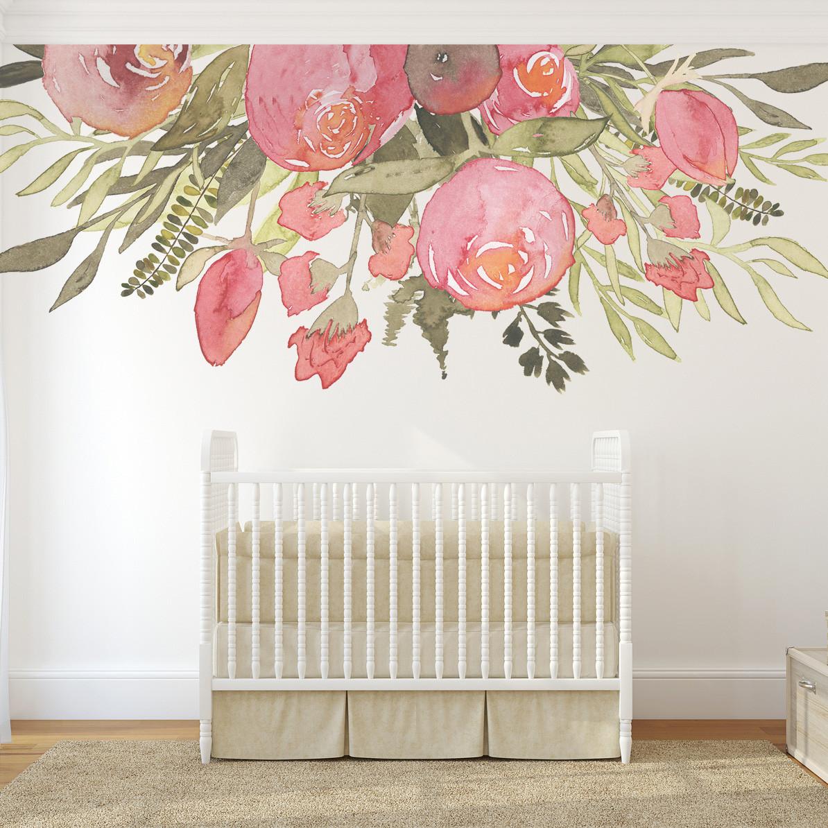 Home Decor 24 Flowers Girls Bedroom Stickers Wall Decals Nursery Fibsol Com