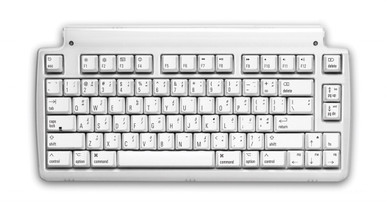 Matias Mini Tactile Pro Keyboard for Mac, White w/media keys, Clicky