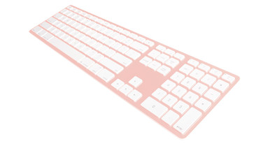 Matias Rose Gold Wireless Aluminium Keyboard, Mac/Win, up to 4x BT