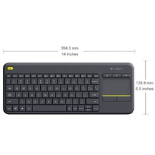 Logitech Wireless Touch Keyboard K400 Plus - Black replaces K400r Blac (920-007165(K400PLUS))