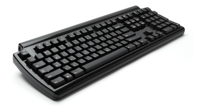 Matias Quiet Pro Keyboard for PC, Black w/3x USB ports, Quiet Click