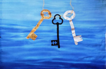 KEYS on Blue Silk