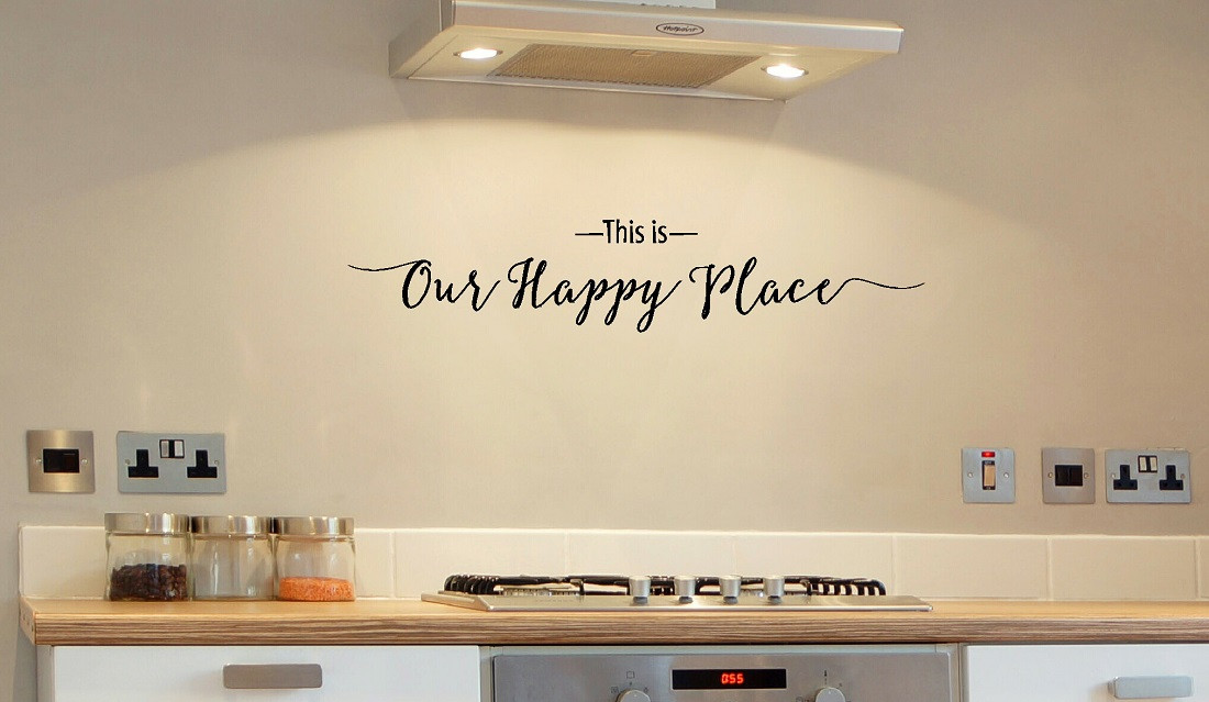 This Is Our Happy Place Wall Decal Quote For Entryway Decor