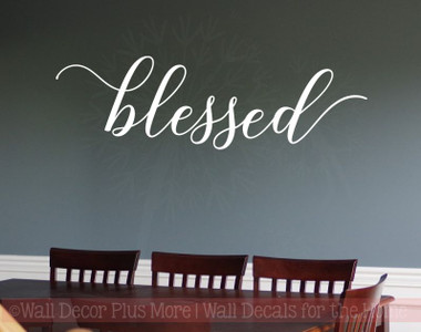 Blessed Cursive Elegant Wall Stickers Decals Vinyl
