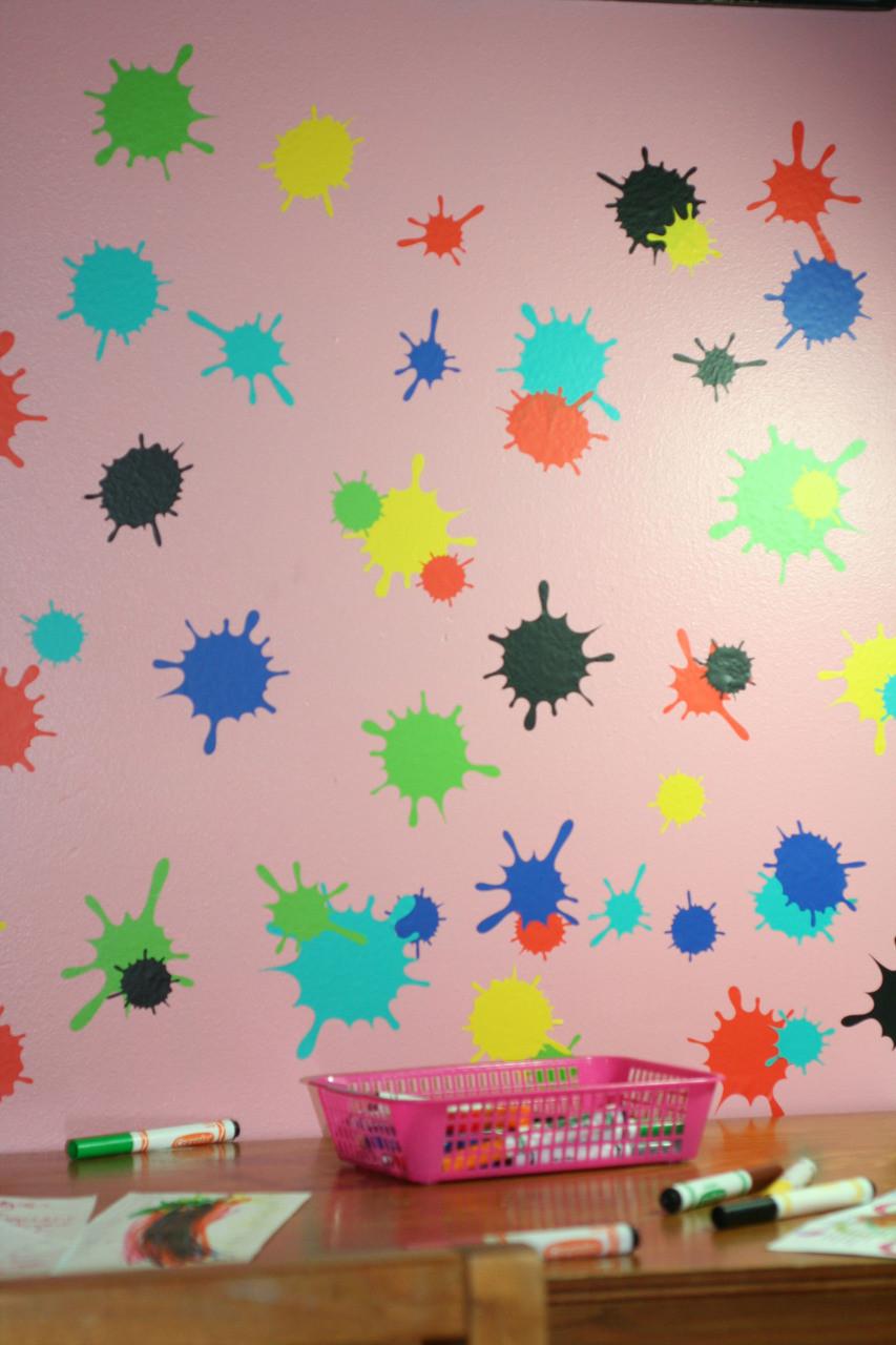 Splatter And Splotches Wall Art Vinyl Stickers Easy Room