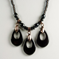Hematite and  Bronze Set
