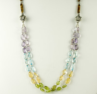 Multigem Layered Necklace