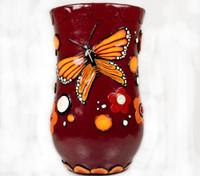 Retro Butterfly Vase