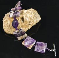 Chevron Amethyst Bracelet - SOLD
