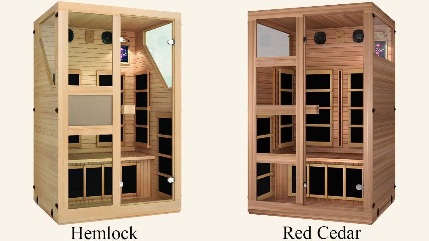 Hemlock and Red Cedar Comparison