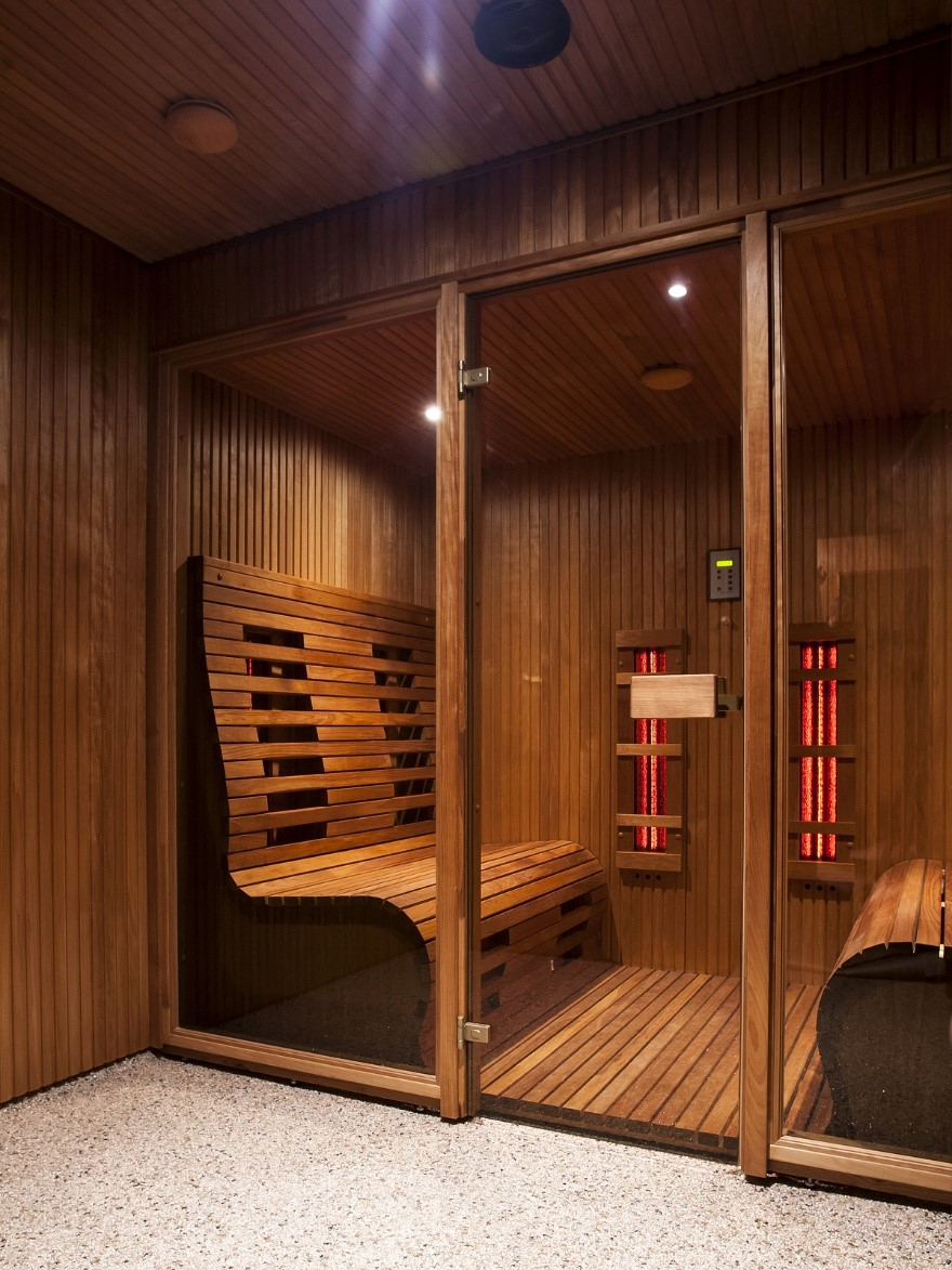 enjoying a sauna at home the health benefits of far infrared saunas jnh lifestyles. Black Bedroom Furniture Sets. Home Design Ideas