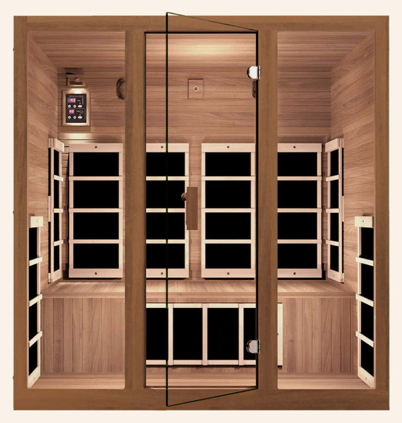 Freedom 4 Person Far Infrared Sauna, Healthy Heart Sale - Save $1,600