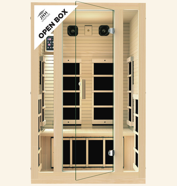 Ensi™ 2 Person Ultra-Low EMF Far Infrared Sauna (Open-Box) - Save $1400