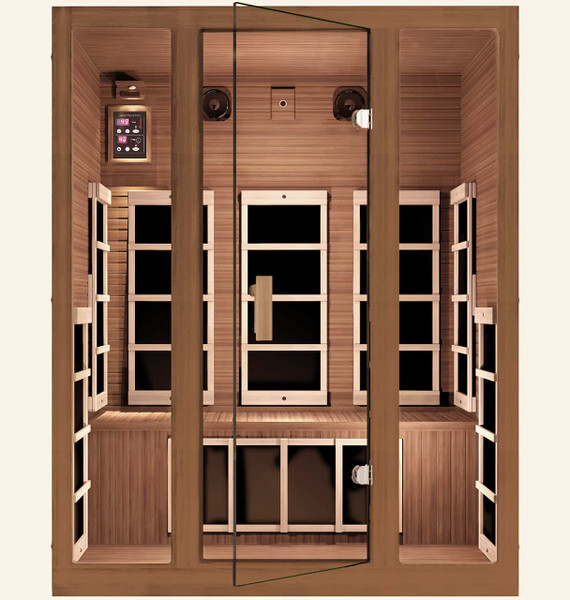 Freedom 3 Person Far Infrared Sauna, Healthy Heart Sale - Save $1,100