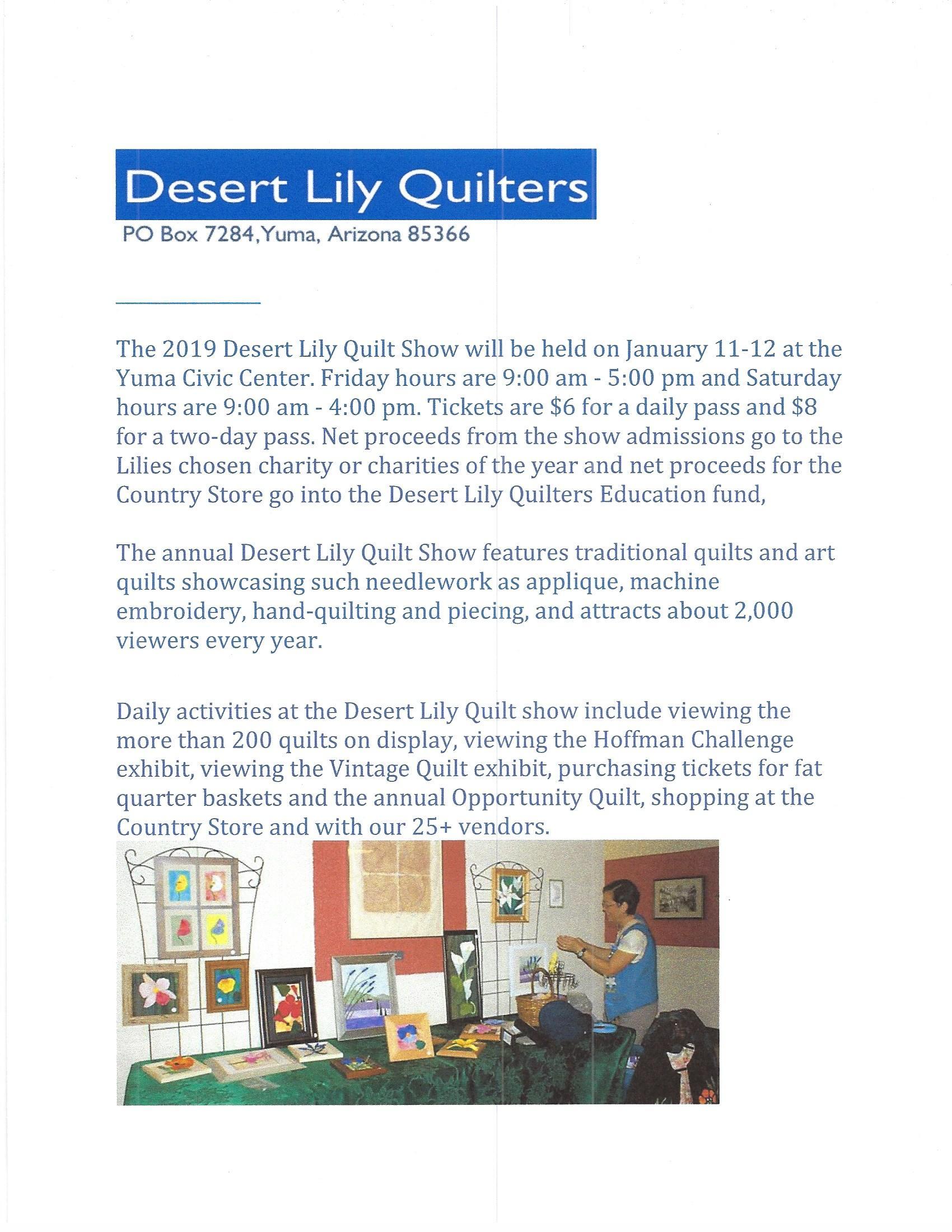 Desert Lily's 2019