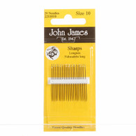 John James Sharps Needles, Size 10