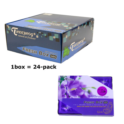 Treefrog 24 packs Fresh Box Mini Exotic Violet floral Scent  - YirehStore.com