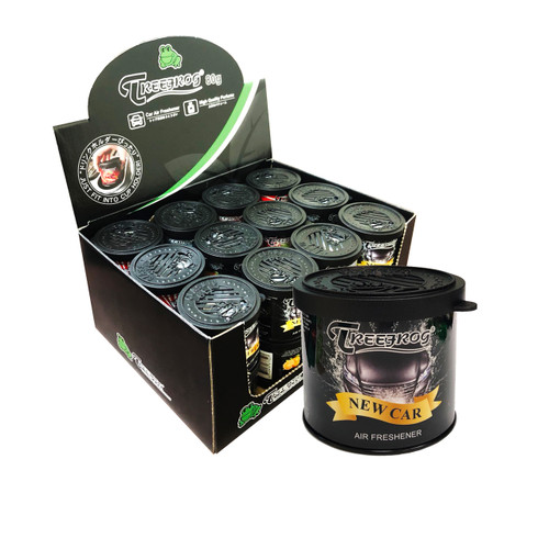 Treefrog Classic Gel Can New Car Scent 24 Cans (TR21NC54)