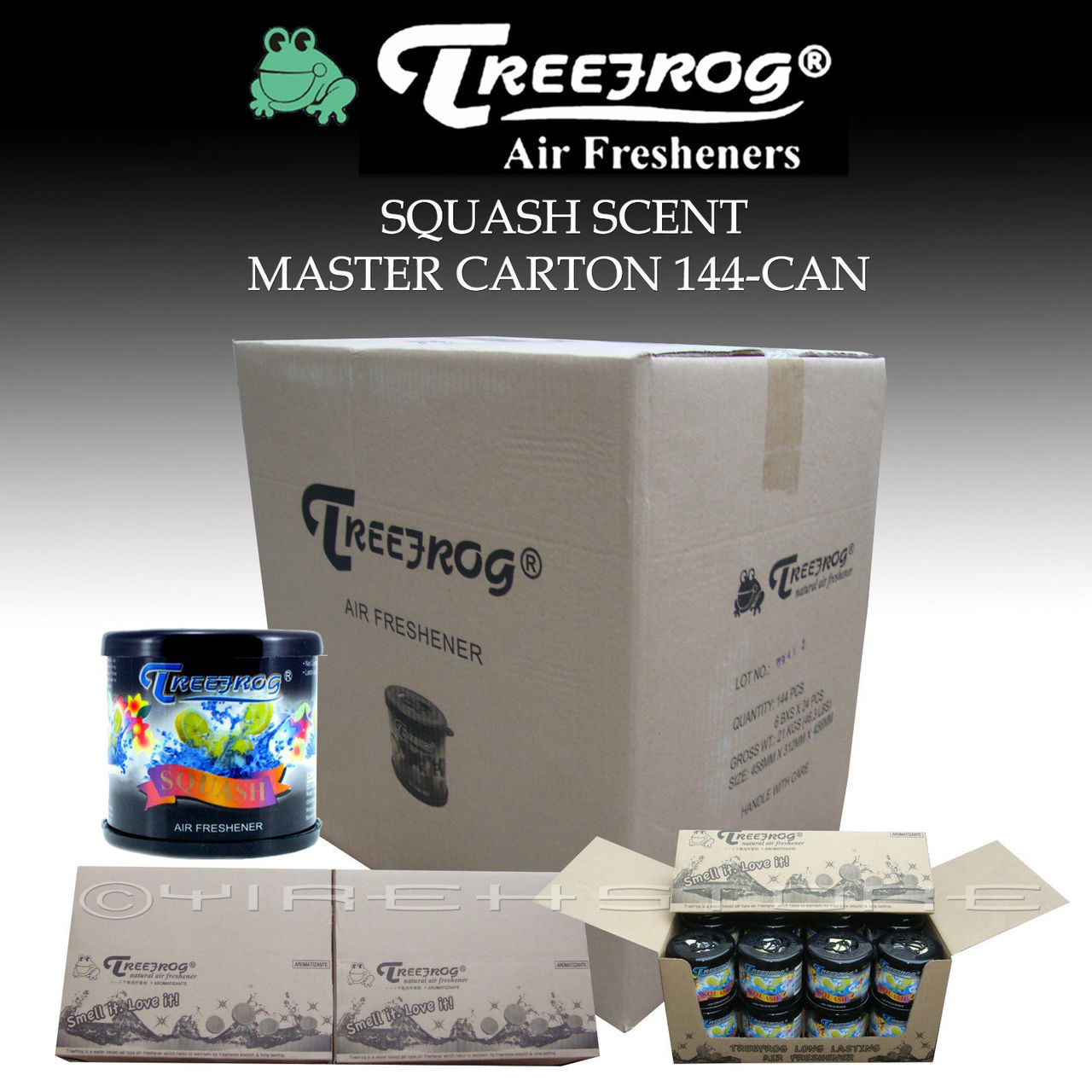1 Master Box Treefrog Classic Gel Can Squash Scent 144 Cans