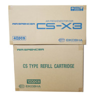 Air Spencer CSX3 Squash Scent Car Air Freshener 1 Master Case Unit (40 pcs) and 1 Master Case Refill (100pcs)